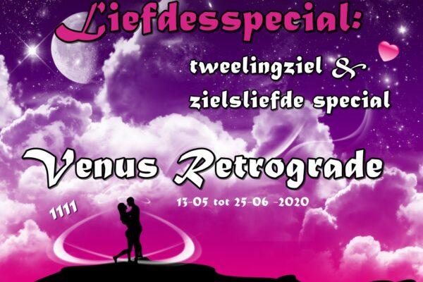 Liefdesspecial: Tweelingzielen & Zielsliefde special Venus Retrograde in Tweelingen tm 25 Juni 2020
